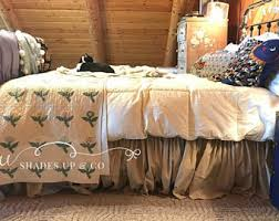 White Bed Skirt Queen Shabby Chic Bedding Romantic Tiered Ruffle Dust Ruffle Bed