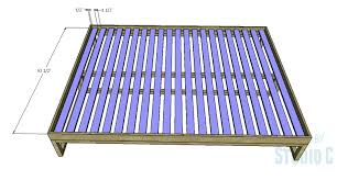 a simple to build queen platform bed u2013 designs by studio c