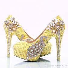 most comfortable dress shoes for wedding lemon yellow rhinestone wedding shoes handmade bridal dress