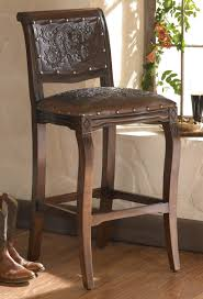 Western Rocking Chair Western Furniture Set Of 2 Imperial Barstools With Tooled Leather