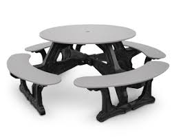 round plastic picnic table cantina outdoor tables recycled plastic picnic tables belson