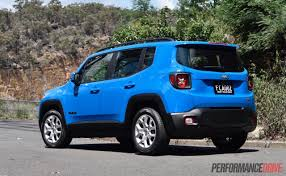jeep renegade light blue 2016 jeep renegade longitude review video performancedrive