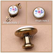 Brass Handles For Kitchen Cabinets by Online Shop 10pcs Set White Ceramic Flower Pull Door Handles For