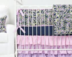 Teal And Purple Crib Bedding Purple Crib Bedding Etsy