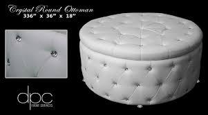 white round tufted ottoman white lounge furniture dpc event services