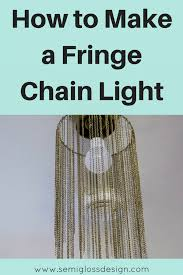 Diy Light Pendant How To Make A Diy Pendant Light With Jewelry Chain Semigloss Design
