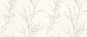 willow off white steel floral wallpaper laura ashley