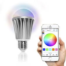 light bulbs controlled by iphone flux bluetooth smart led light bulb smartphone controlled dimmable