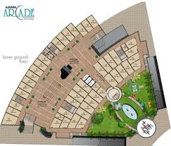 Commercial Floor Plan by Ajnara Arcade Commercial Property Price Layout Location On Nh 24