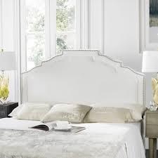 abbyson royal tufted white queen full linen headboard free