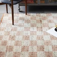 checkerboard flatweave wool rug sweet potato west elm