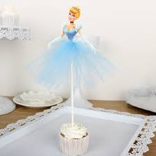 10pcs cinderella cake toppers cupcake accessory tutu cake table