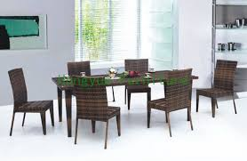 rattan dining table rattan dining table outdoor and chairs for