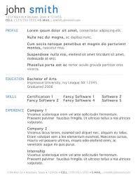exle resume templates excel resume template resume sle