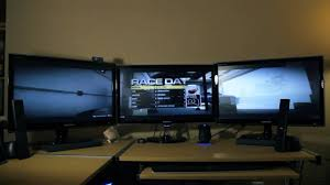Gallery For Gt Best Computer Setup by How To Set Up Eyefinity 3 Monitor Setup Youtube