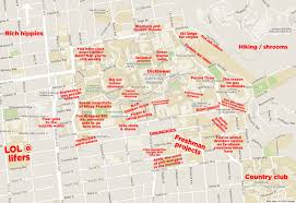 Lsu Map The Judgmental Map Of Cal Berkeley Campusthe Black Sheep