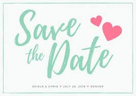 save the date in mint save the date wedding postcard templates by canva