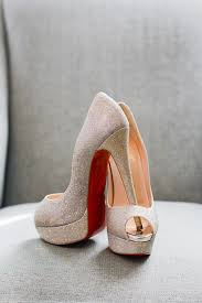 Wedding Shoes Peep Toe Shoes High Heels Christian Louboutin Heels Louboutin Gold