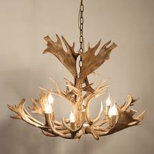 faux candle light fixtures faux antler 43 wide rustic cascade antler chandelier 8 candle lights