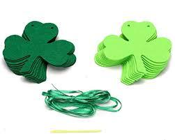 shamrock ribbon shamrock clover garland ribbon banner green st s day
