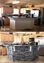 stone kitchen islands before and after diy kitchen island makeover addicted 2 diy