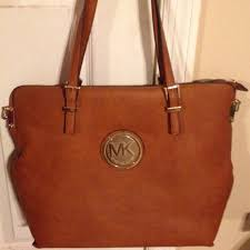 light brown mk purse handbags light brown mk purse poshmark