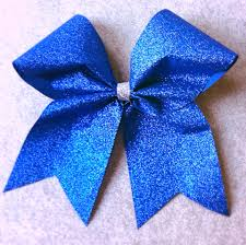 blue bows royal blue sparkle cheer bow royal blue glitter cheer bow