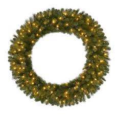 48 in pre lit b o led new meadow artificial wreath x