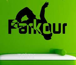 sport de chambre parkour stickers muraux rue sport vinyle autocollants cool