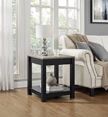 Home Furniture by Amazon Com Altra Furniture Carver End Table Black Sonoma Oak
