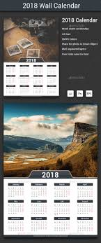 Calendar 2018 Ai Template 2018 Calendar Calendar Calendar Templates And Ai Illustrator