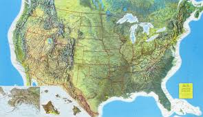 us relief map rand mcnally raised relief map of the united states