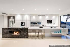 kitchens with island benches enigma interiors home project open plan lighting modern kitchen