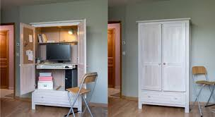 comment faire un bureau diy comment créer un meuble secrétaire avec une armoire