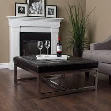 Black Leather Ottoman Coffee Table Best 25 Black Leather Ottoman Ideas On Pinterest Modern
