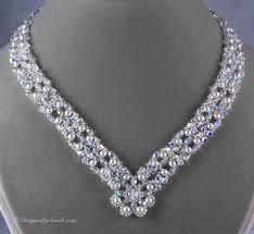 swarovski beaded necklace images Design by sandi presents elizabethan necklace timeless design jpg