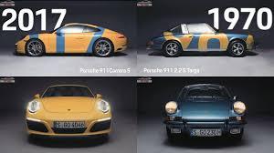 car porsche 2017 top cars porsche 911 design evolution 1970 to 2017 youtube