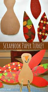 scrapbook paper thanksgiving turkey craft mess for less