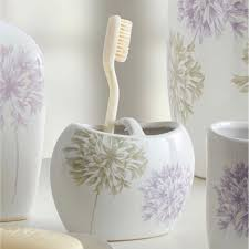 Croscill Bath Accessories by Dandelion Floral Bath Accessories By Croscill