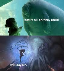 Manatee Meme - set it all on fire child starcraft