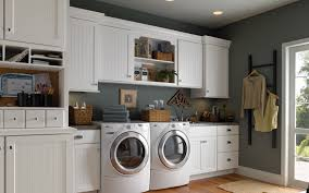 minimalist laundry room design with white makeover utility room