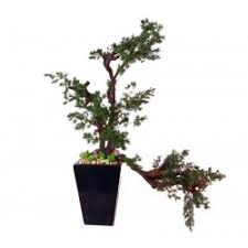 uk made small artificial trees bright green