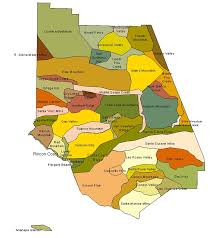 County Map Of California Ventura County Geography