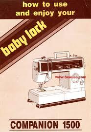 babylock bl 1500 companion instruction manual sewing pinterest