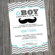 fabulous little man mustache baby shower invitations decorations
