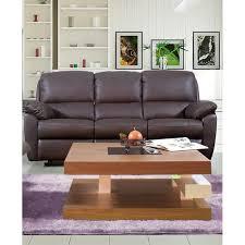 canapé cuir relax 3 places bourgogne canapé droit de relaxation en cuir 3 places 196x90x93 cm