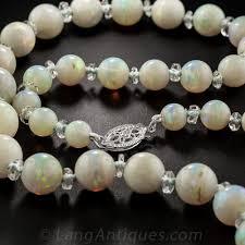 vintage beads necklace images Vintage opal bead necklace jpg
