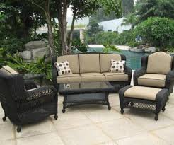 Pvc Outdoor Patio Furniture Endearing Black Wicker Patio Furniture Pvc Throughout Outdoor