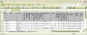 the sample risk register