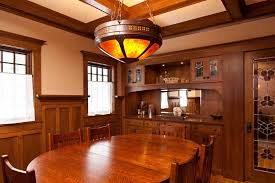 Arts And Crafts Dining Room Furniture The Height To Install Arts And Crafts Dining Room Lighting